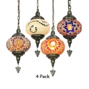 1/4 Pack Turkish Orb Hanging Light Glass 1 Light Suspension Light for Living Room(not Specified We will be Random Shipments)