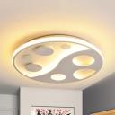 Acrylic Small Dots Flush Mount Light Modern Style Warm/White Lighting LED Ceiling Lamp for Corridor