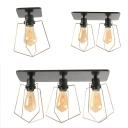 Edison Bulb Ceiling Mount Light 1/2/3 Lights Vintage Glass Flush Light for Corridor Dining Room
