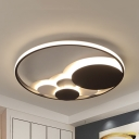 Dots LED Flush Mount Light Simple Style Acrylic LED Ceiling Light in Warm/White for Girls Bedroom