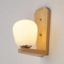 Modern Led Lighting Rubber Wood Base Uplighting Wall Light in Chrome Finish