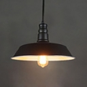 Black Finish Barn Pendant Light with Pulley 1 Head Industrial Metal Hanging Light for Bar Cafe
