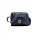 Utility Logo Patchwork Anti Theft Nylon Crossbody Shoulder Bag 21*16*5 CM
