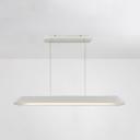 47 Inch Nordic Linear Pendant Light White/Gray Aluminum LED Ceiling Light for Restaurant