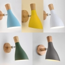 Wine Glass Kitchen Wall Light Metal 1 Light Modern Rotatable Wall Sconce with Macaron Color