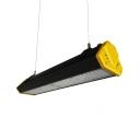 Aluminum Rectangle LED High Bay Lighting Supermarket Exhibition 100W Waterproof Hanging Light