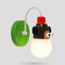 1/2 Pack Monkey Shape Wall Light 1 Light Lovely Metal Wall Sconce for Kid Bedroom Hallway