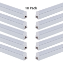 47 Inch Integrated LED Linear Light 1/8 Pack Aluminum T5 Fluorescent Light in Warm White/Cool White for Shop