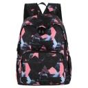 Stylish Printed Black Waterproof Nylon School Bag Backpack 33*12*40 CM