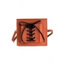 Chic Plain Crisscross Tied Long Strap Crossbody Shoulder Bag 20*2*18 CM