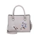 Cheap Fashion Floral Embroidery Pattern Shoulder Handbag 25*12*20 CM