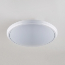 Acrylic Circle LED Ceiling Lamp Bathroom Waterproof Flush Mount Light in Black/Sliver/Rose Gold/White