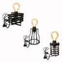 3 Designs Choice Metal Table Light Cafe One Light Industrial Plug In Desk Lamp in Black