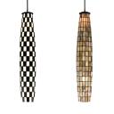 Art Glass Mini Pendant Light Dining Table 1 Light Mosaic Ceiling Light in Beige/Black & White
