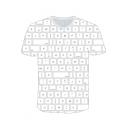 Funny 3D Keyboard Pattern White Short Sleeve Regular Fit T-Shirt