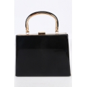 Simple Fashion Solid Color Glossy Party Clutch Handbag 19.5*4*23 CM