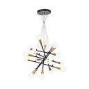 Creative Stacked Horn Chandelier Metal 18 Lights Brass Suspension Light for Villa Hotel