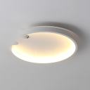 White Deformed LED Ceiling Mount Light Creative Acrylic Ceiling Fixture in Warm/White for Study Room