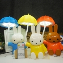 Umbrella Rabbit Desk Light Child Bedroom Stepless Dimming LED Night Light with Remote Controller in Blue/Orange/Yellow