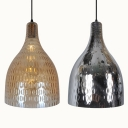 Amber/Chrome Glass Bottle Shape Hanging Light 1 Light Traditional Ceiling Light for Bedroom