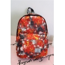 Fashion Pattern Waterproof Red Polyester Leisure School Bag Travel Backpack for Girls 36*27*11 CM