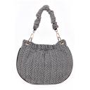 Stylish Stripe Pattern Canvas Shoulder Tote Bag for Women 20*1*21 CM