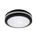 Drum Balcony LED Ceiling Light Sound Activated & Dusk to Dawn Sensor/Radar Sensor Flush Light with White/Yellow Lighting