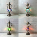 Metal Wine Pot Table Light Restaurant Hotel 1 Light Moroccan Turkish Table Lamp with 4 Design Choice