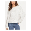 Fashion Simple Solid Color Round Neck Long Sleeve Casual Loose Knit Sweatshirt