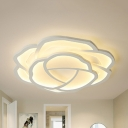 Nordic Style Flower Flush Light Acrylic LED Ceiling Mount Light in Warm/White for Nursing Room