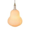 Restaurant Bedroom Gourd Pendant Light Ceramics 1 Light Creative White Suspension Light