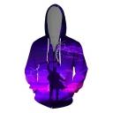 Cool Comic Figure Lightning 3D Printed Long Sleeve Casual Loose Zip Up Hoodie