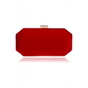 Simple Fashion Solid Color Velvet Clutch Evening Bag for Women 20.5*6*10.5 CM
