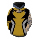 Trendy Comic Cosplay Costume Long Sleeve Yellow Pullover Unisex Hoodie