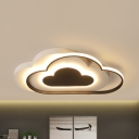 Black Cloud Flush Ceiling Light Simple Stylish Warm/White/Stepless Dimming Acrylic LED Flush Light for Teen