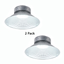 1/2 Pack 200W Warehouse Light 1 Head Aluminum LED Bay Lighting for Factory Supermarket