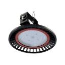 Black Slim UFO High Bay Lighting 150W Commercial Aluminum LED Pendant Light for Gym Workshop