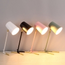 Simple Style Rotatable Tapered Desk Light 1 Head Macaron Colored LED Study Light for Study Room