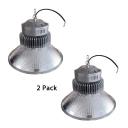 1/2 Pack Cone LED High Bay Lighting 150W Aluminum Long Life Ceiling Light for Garage Showroom
