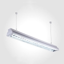 Office Mall Rectangle Linear Suspension Light Aluminum Long Life White LED Hanging Lamp