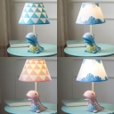 Kids Tyrannosaurus Rex Desk Lamp Tapered Shade Dimmable Reading Light for Boy Bedroom