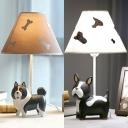 French Bulldog/Alaskan Malamute Reading Light Resin 1 Light Animal LED Desk Light for Bedroom