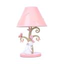 Resin Rabbit Butterfly Desk Light 1 Light Lovely LED Reading Lamp in Pink for Girl Bedroom