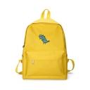 Cute Cartoon Dinosaur Print Canvas School Bag Backpack 21*17*10 CM