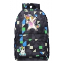 New Geometric Cartoon Unicorn Print Oxford Cloth Backpack 45*31*13 CM