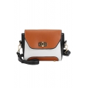 Fashion Color Block Long Strap Crossbody Bag for Women 20*11*17 CM