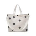 Fashion Polka Dot Printed Canvas Shoulder Shoulder Messenger Bag for Students