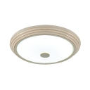 Round Shade LED Flush Mount Light Contemporary Acrylic Ceiling Fixture with White Lighting/Third Gear for Restaurant
