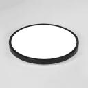 Living Room Round Ceiling Mount Light Acrylic Radar Sensor Black/White LED Flush Light