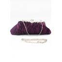 Fashion Plain Ruffle Embellishment Evening Clutch Bag for Wedding 27*12*4 CM